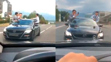Очередного любителя ездить задом наперёд оштрафовали в Алматы