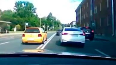 Погоня за «Гольфом» в России. Видео от полиции