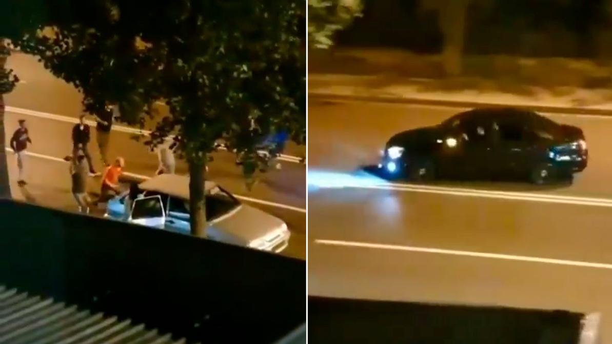 Ещё одно видео наезда на дерущихся на дороге в Алматы появилось в Сети