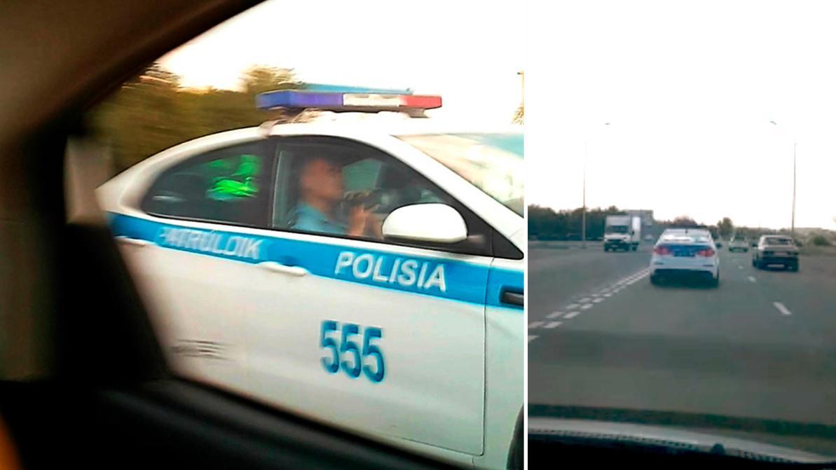 Полицейского, радарившего на улицах Жезказгана, наказали. Чуть-чуть