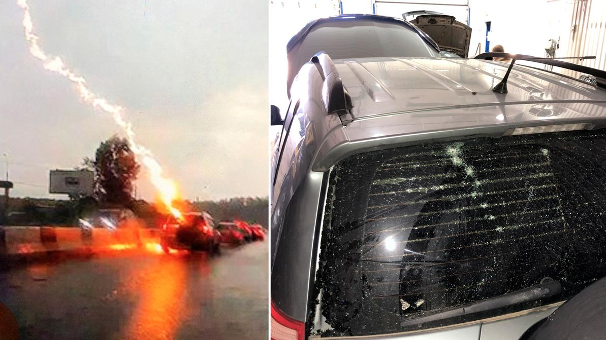 Молния попала в Toyota RAV4. Теперь он выглядит так