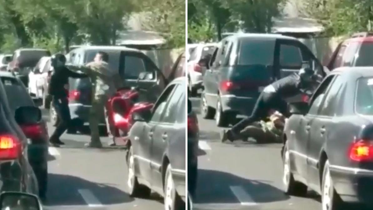 Водители мопеда и автомобиля не поделили дорогу
