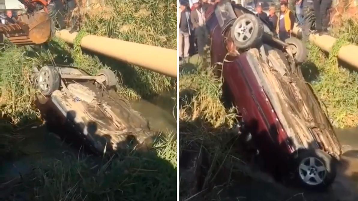 Двое мужчин на Audi 100 утонули в реке на станции Шамалган
