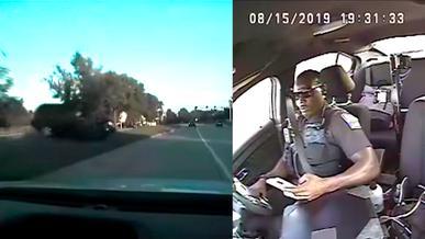 Полицейский залип в телефон и попал в ДТП