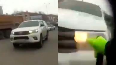 Регулировщика сбили в Павлодаре
