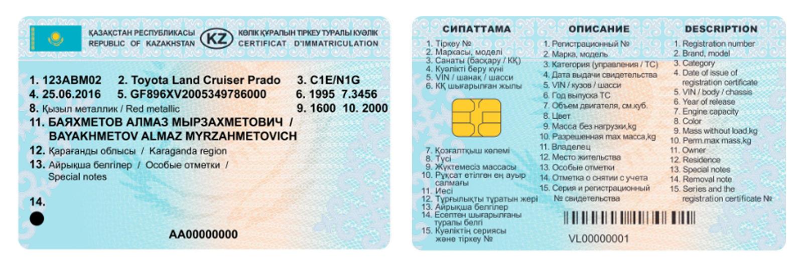 Новые права и СРТС начнут выдавать в Казахстане с 15 ноября