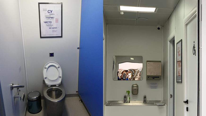 Современные туалеты начали устанавливать на трассах РК