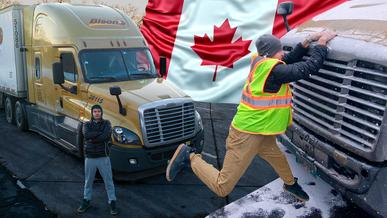 Сколько зарабатывают дальнобойщики в Канаде