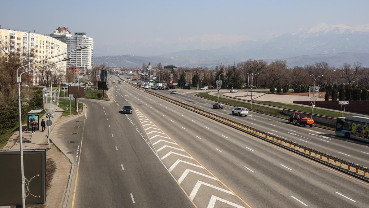 Насколько меньше трафика стало на дорогах Алматы