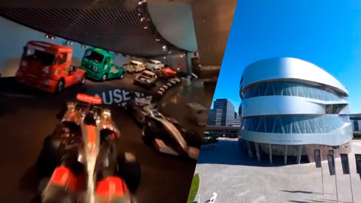 Mercedes-Benz показала свой музей с помощью дрона