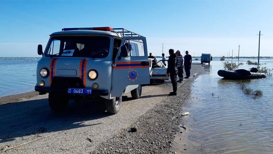 Как спасали утопленные авто в Мактааральском районе