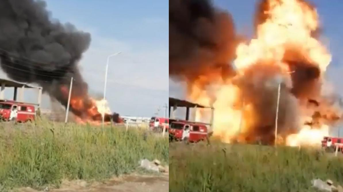 Четверо пострадали при взрыве цистерны на газовой заправке