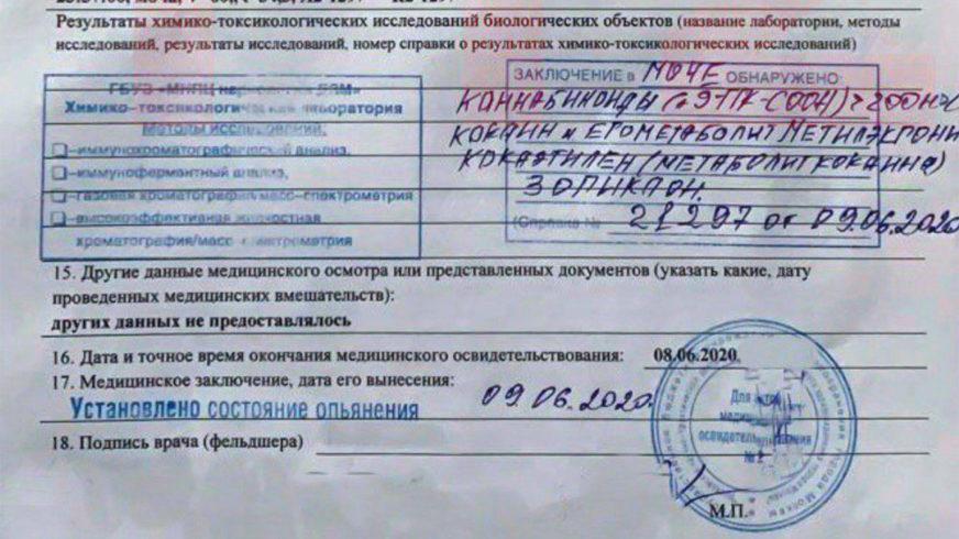 Следы кокаина и каннабиноидов найдены в крови Михаила Ефремова