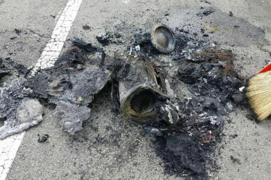Новейший Genesis G80 загорелся на автостраде
