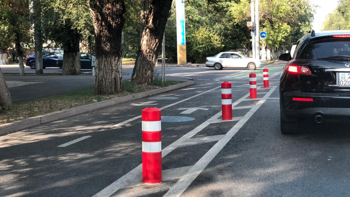 Где в Алматы появятся новые велополосы