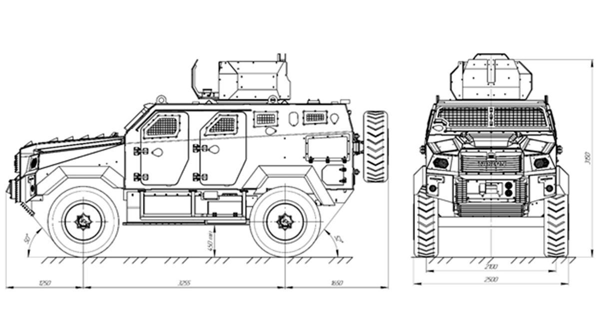 Tarlon 4×4: новый броневик из Узбекистана