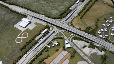 Развязку на аэропортовском кольце частично откроют осенью 2021 года