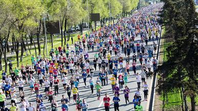 Ради марафона в Алматы 26 сентября перекроют ряд улиц