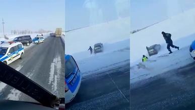Короткую погоню за Lexus LX470 сняли очевидцы