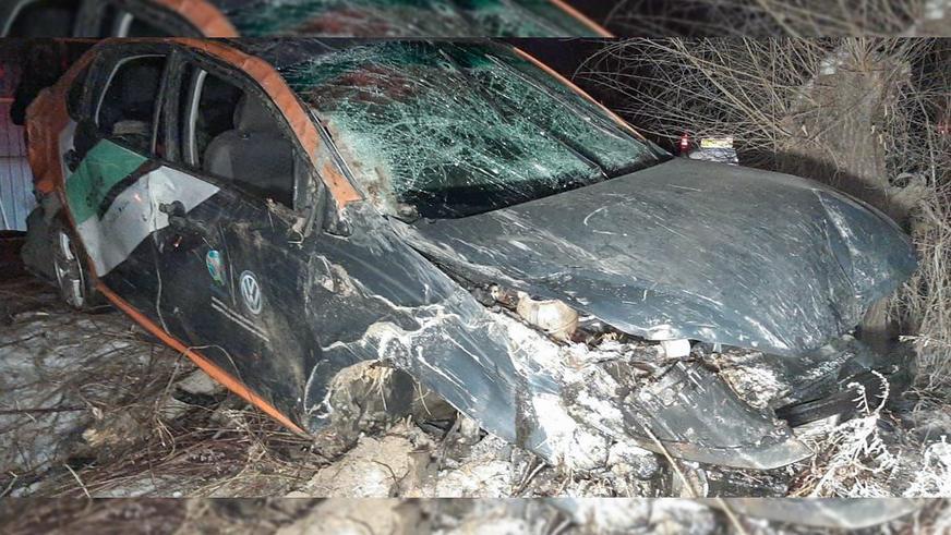 Девять человек перевернулись в машине из каршеринга в Алматы