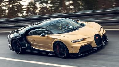 Bugatti Chiron SS разогнался до паспортных 440 км/ч