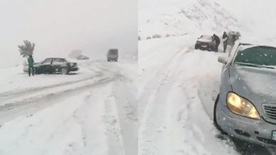 Перевал Кеген завалило снегом