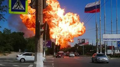 Заправка взорвалась в Волгограде