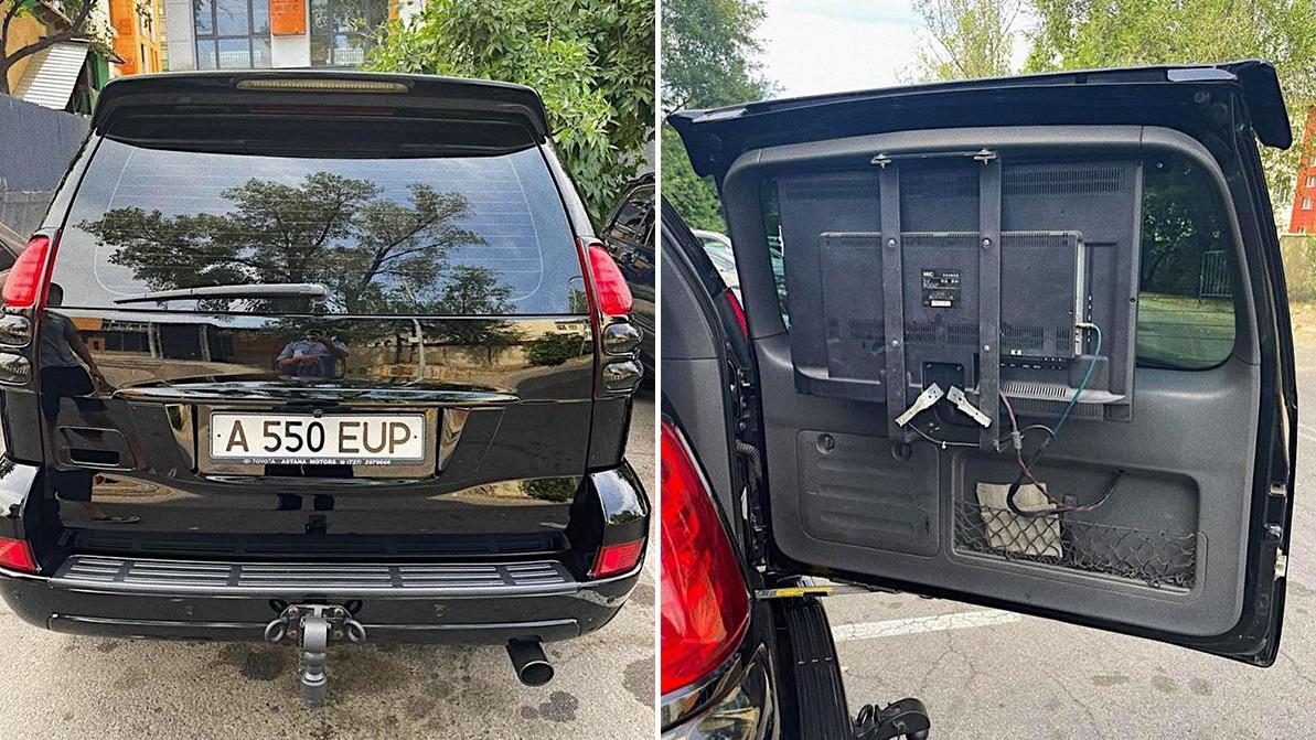За кинотеатр на колёсах водитель Land Cruiser Prado в Алматы оштрафован на 5 МРП