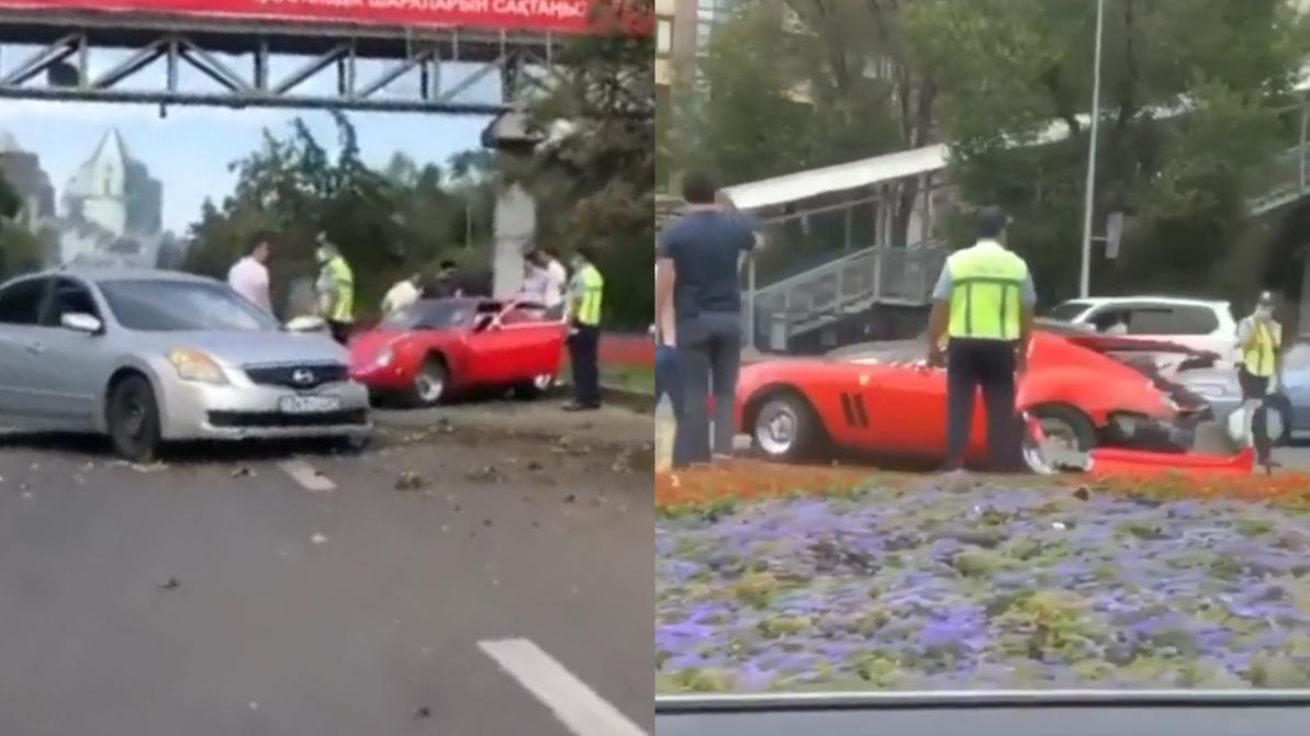 Реплику Ferrari 250 GTO разбили в Алматы