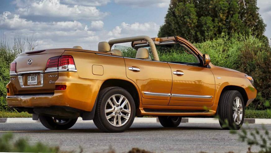 В Эмиратах из Lexus LX сделали кабриолет