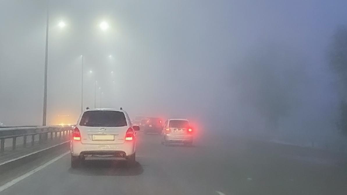 Участок трассы Алматы – Шелек – Хоргос закрыли из-за тумана