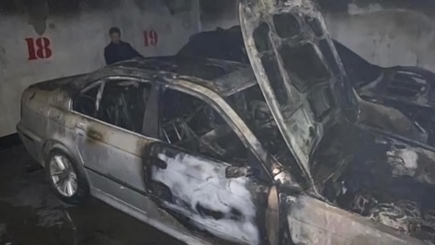 Пожар в подземном паркинге в Алматы