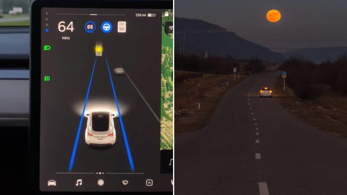 Tesla приняла Луну за жёлтый сигнал светофора