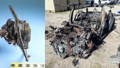 За рулём сгоревшей в США Tesla Model S всё-таки был водитель