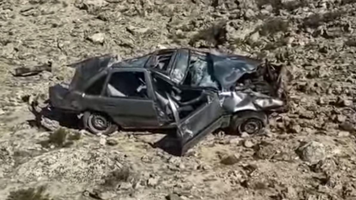 Opel Vectra сорвался с обрыва в Мангистау