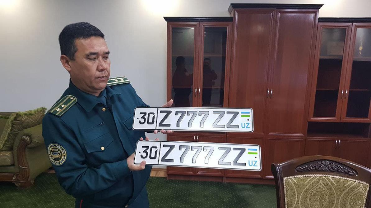 Почти 57 тысяч долларов заплатили в Узбекистане за госномер на авто
