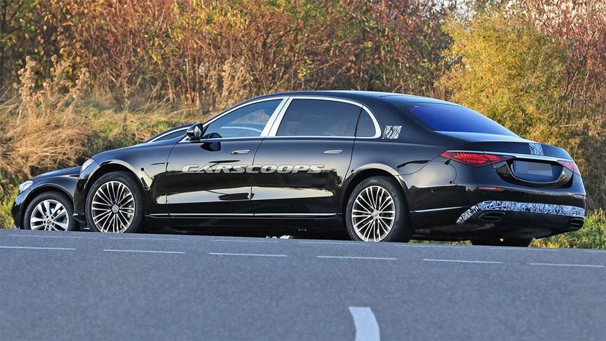 Новый Maybach S-класса снова замечен на тестах