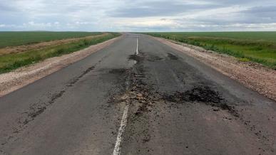 Так выглядит дорога, на ремонт которой потратили 700 млн тенге