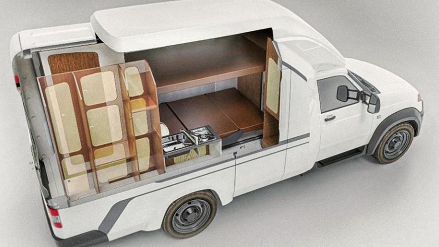 УАЗ показал интерьер автодома на базе «Профи», где можно жить