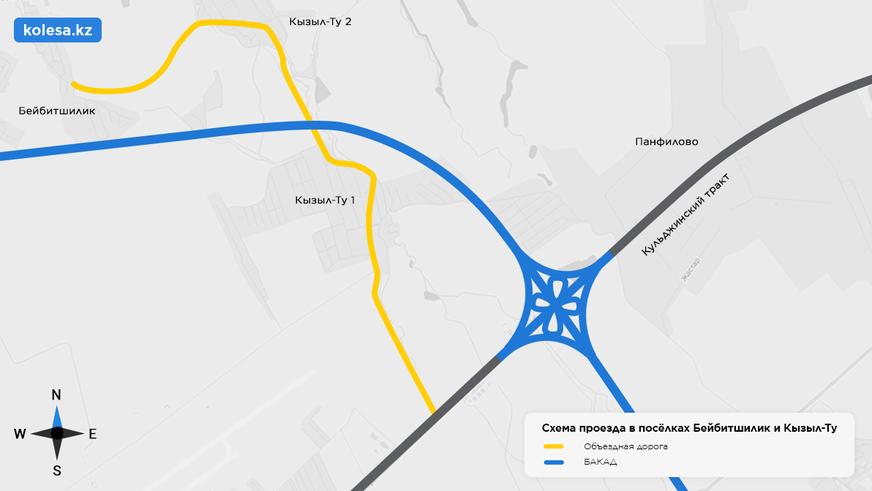Объездную дорогу для двух посёлков построят возле БАКАД в Алматинской области