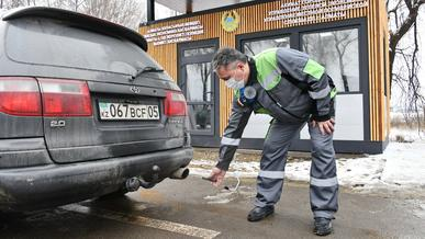 Два обновлённых экопоста заработали на въездах в Алматы