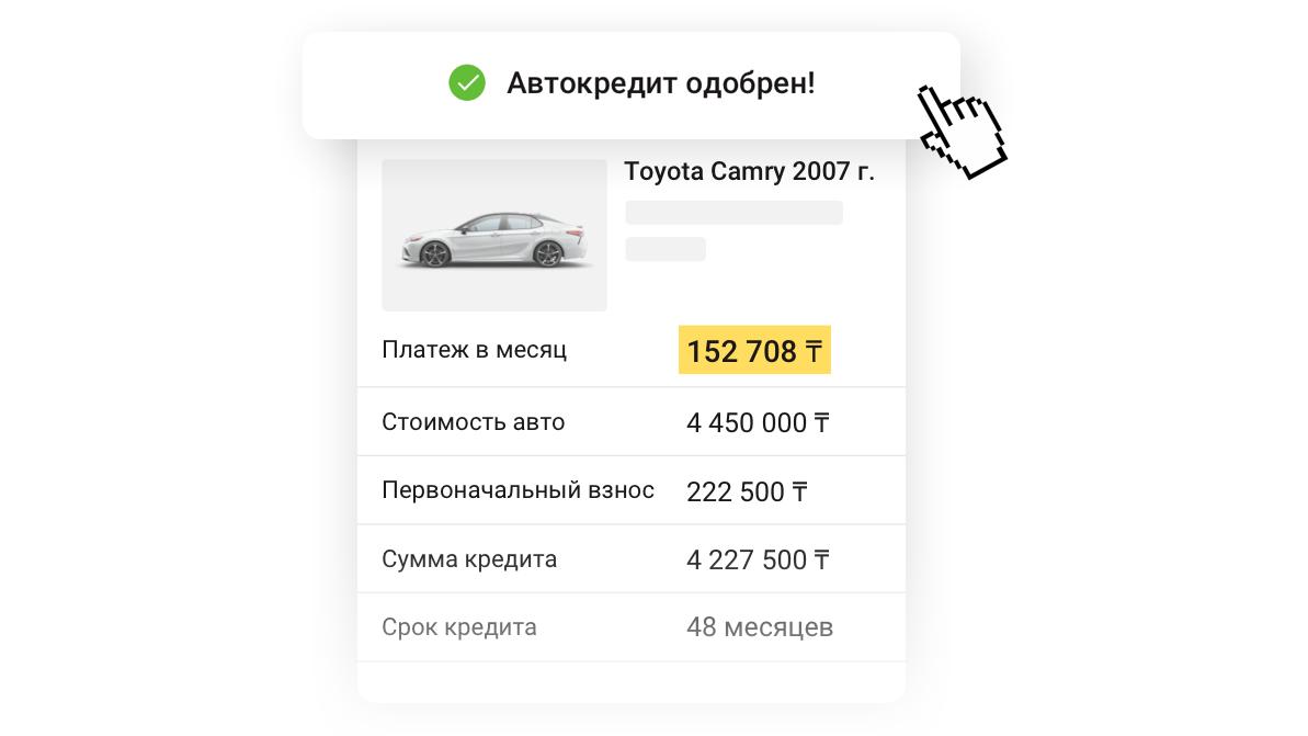 Как купить машину в кредит на Kolesa.kz