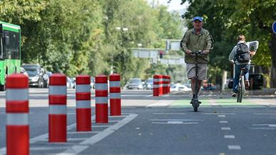 Велосипедные полосы появятся на Сатпаева в Алматы
