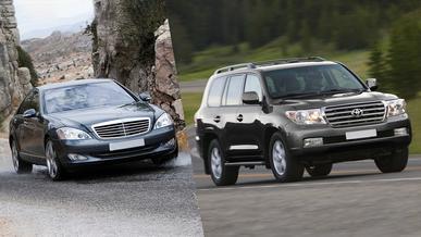 Областные акимы предпочитают Toyota и Mercedes-Benz