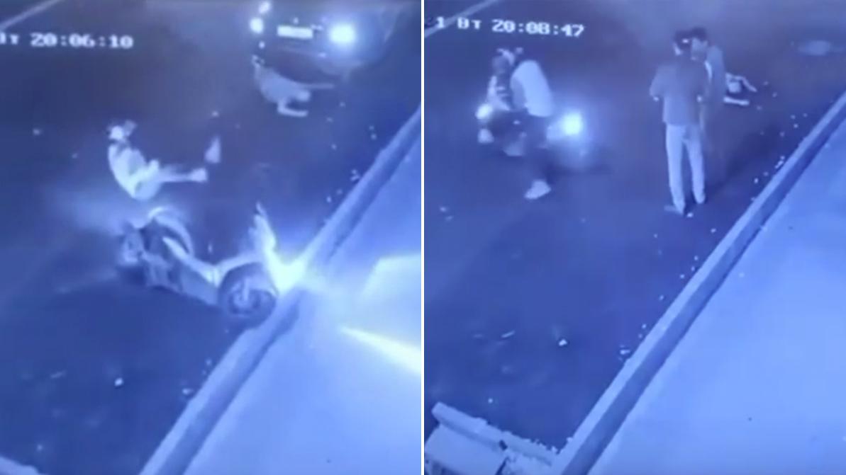 В Алматы мопедист сбил пешехода и сбежал