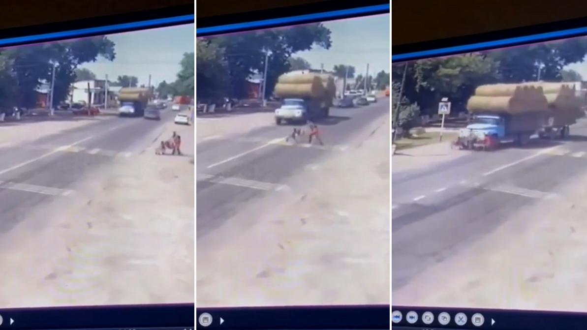 Мужчина с двумя детьми попал под грузовик