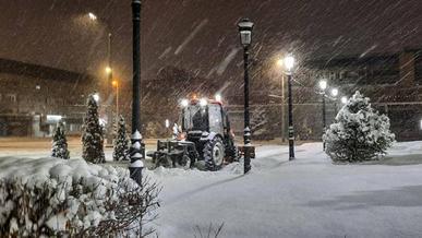 Около 30 сантиметров снега выпало в Алматы
