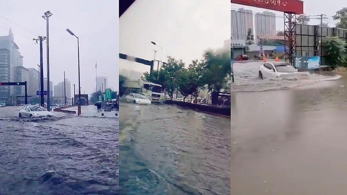 Китайцы используют «теслы» как лодки