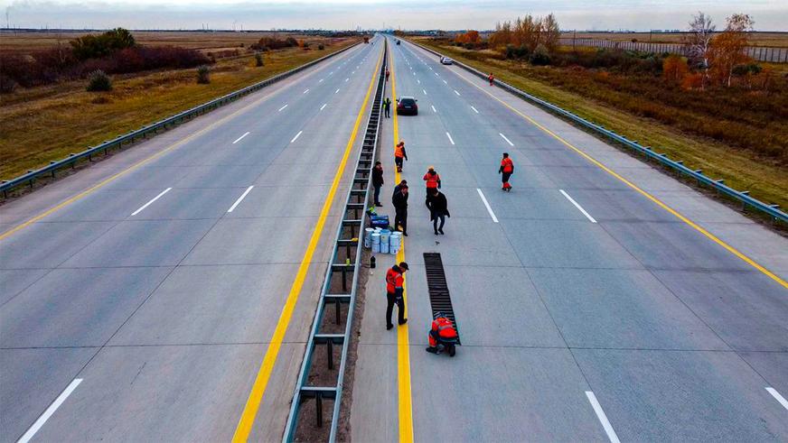 Музыкальная дорога появилась в Казахстане