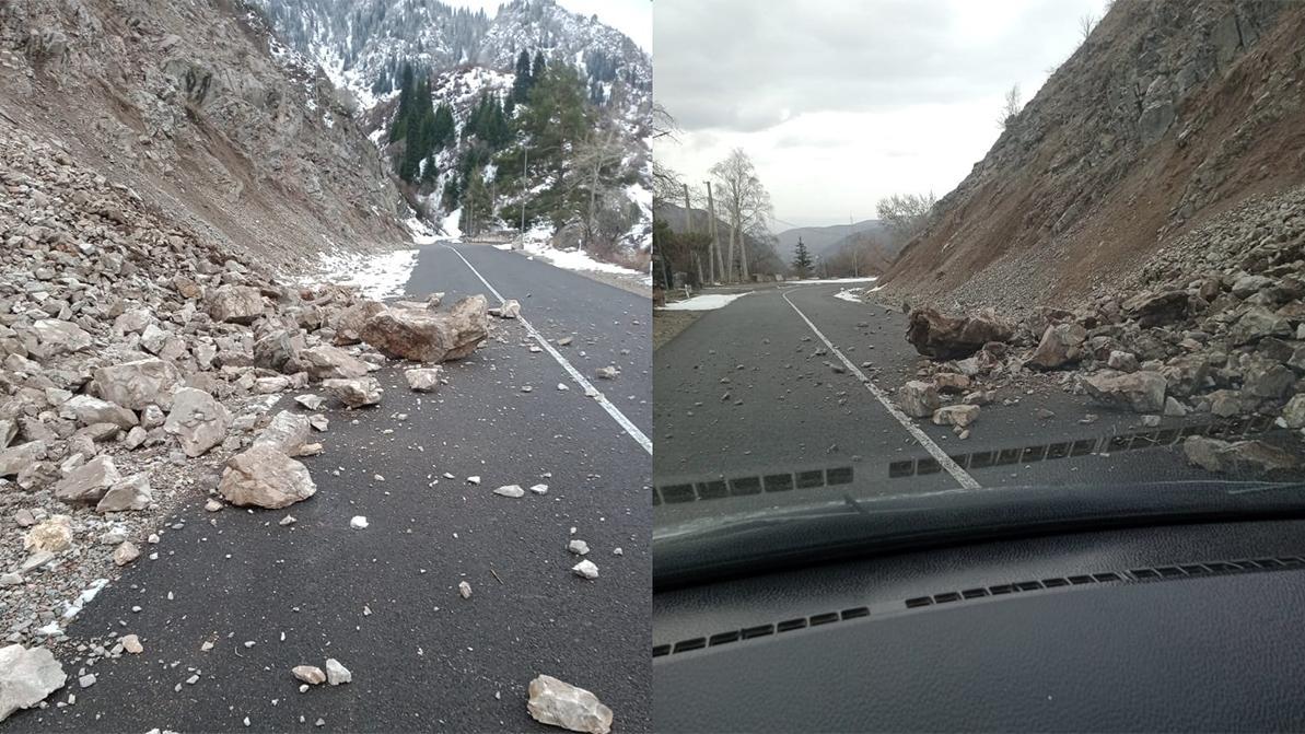 Проезд на озеро Иссык и в Тургеньское ущелье перекрыли в Алматинской области